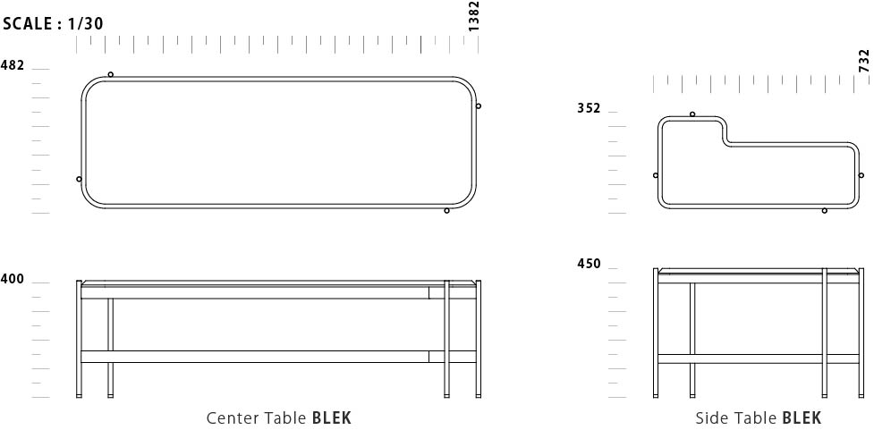 Side Table BLEK