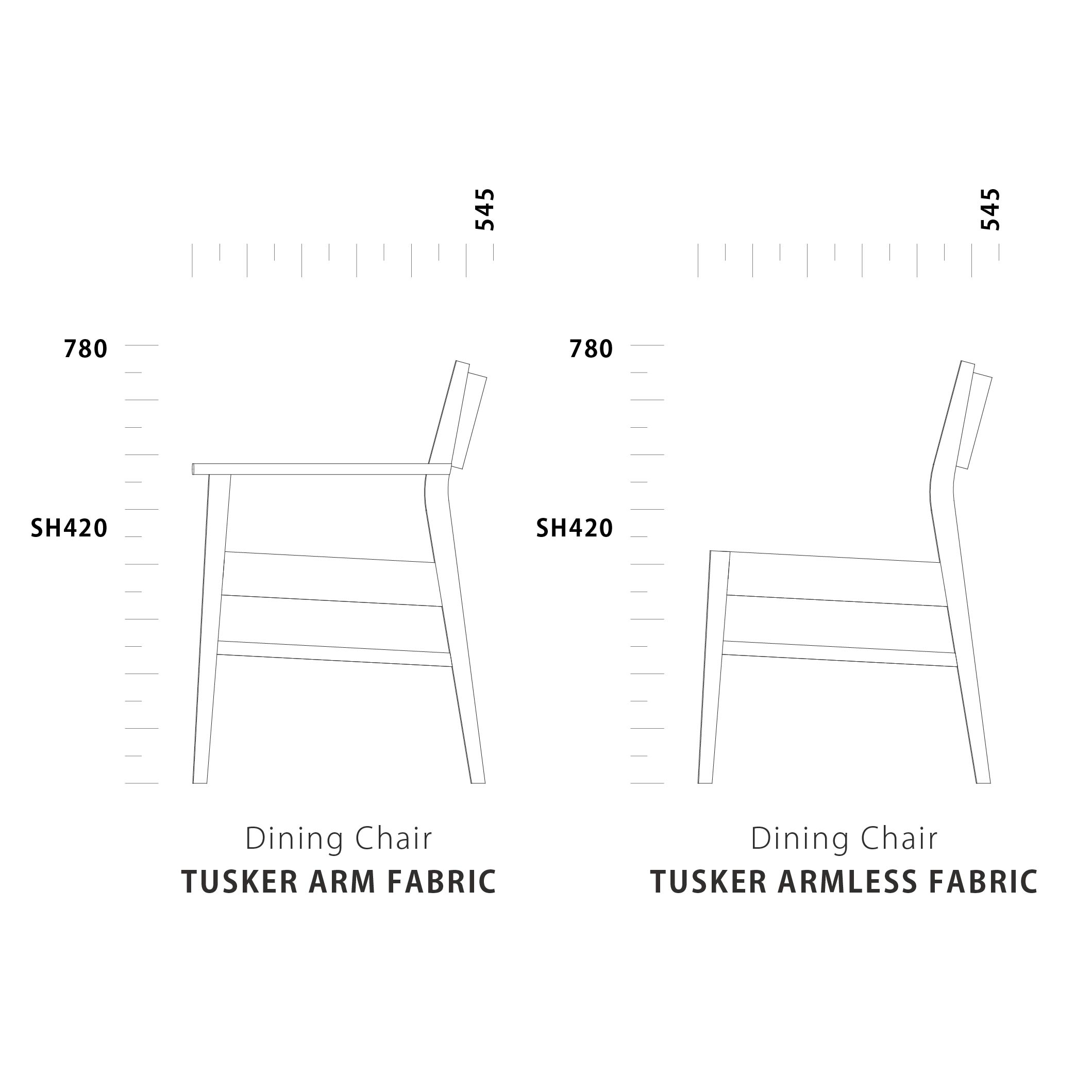 Dining Chair TUSKER Fabric