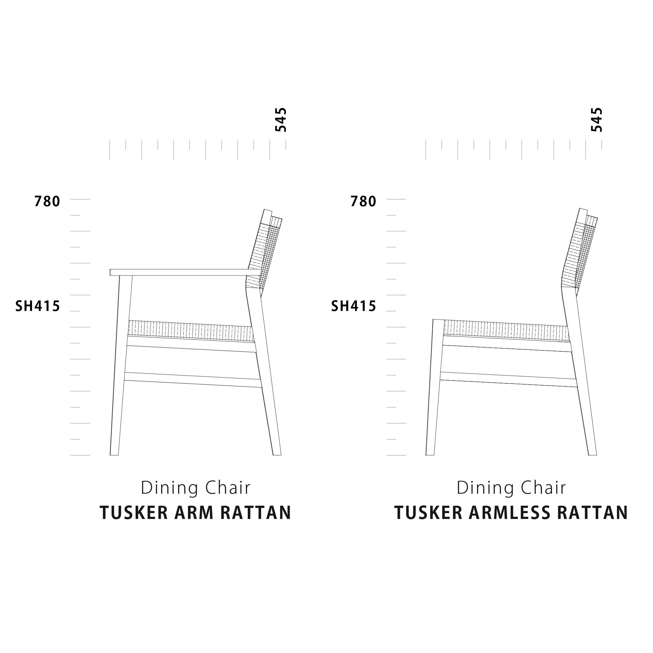 Dining Chair TUSKER Lattan