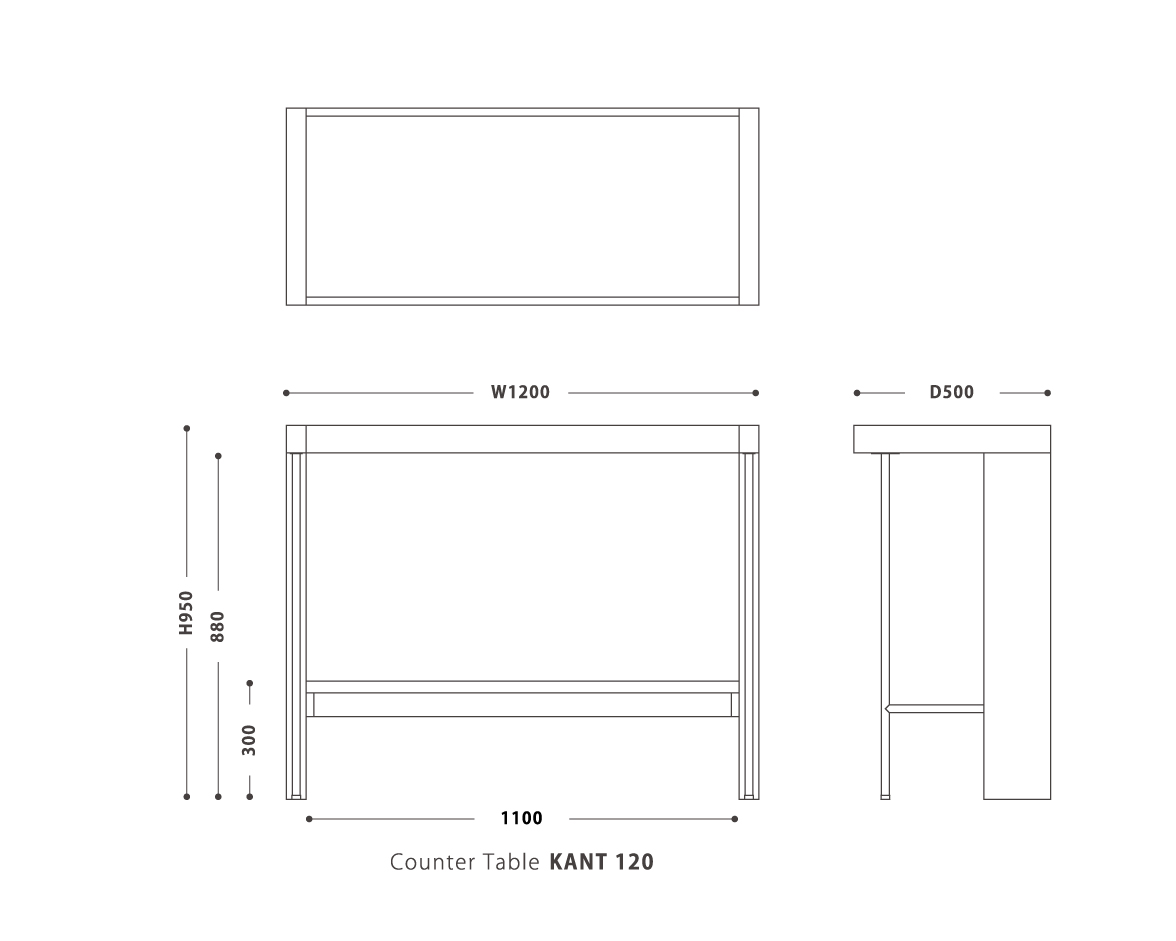 Counter Table  KANT